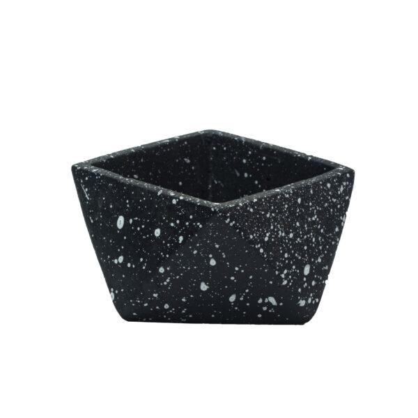 Black Concrete cement pot