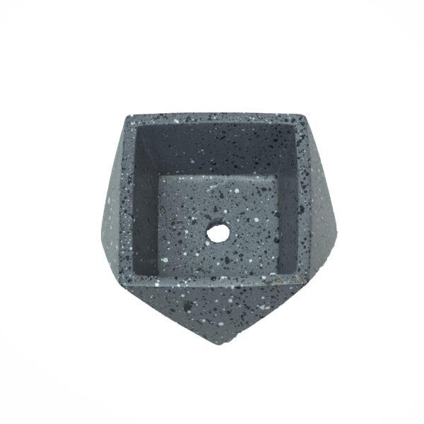 Charcoal Mini Concrete Pot