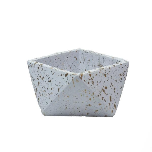 White Mini Concrete Pot