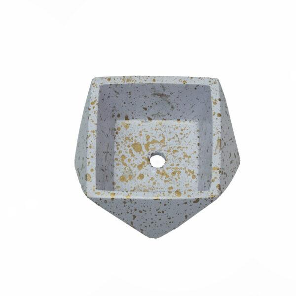 White Mini Concrete Cement Pot