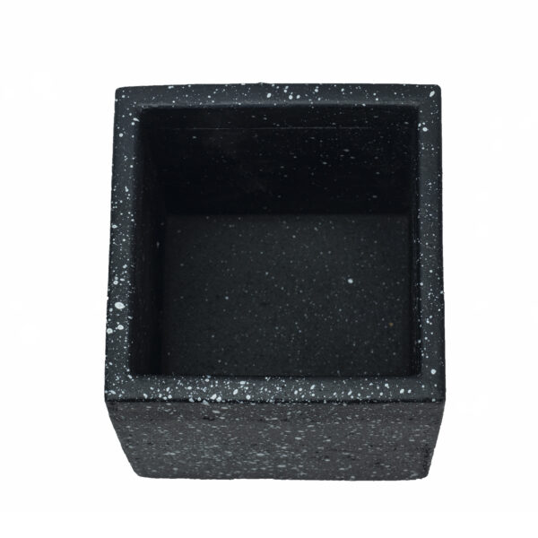 square black concrete pot