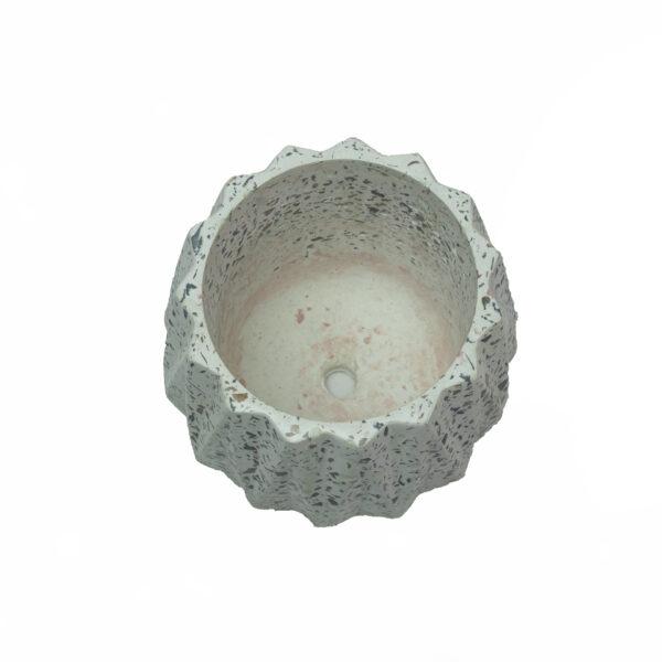 white dholki concrete pot