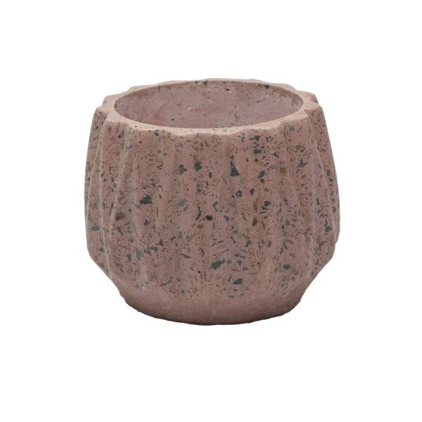 Pink Dholki Concrete Pot