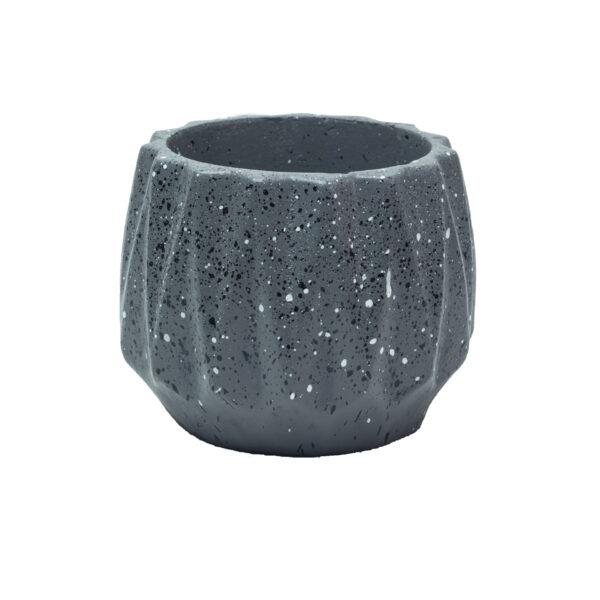 Charcoal Dholki Concrete Pot