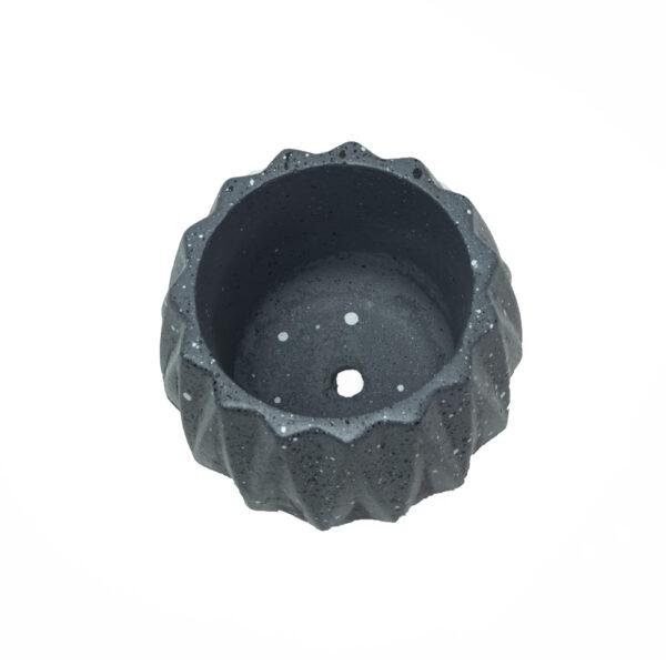 Charcoal Dholki cement Concrete Pot