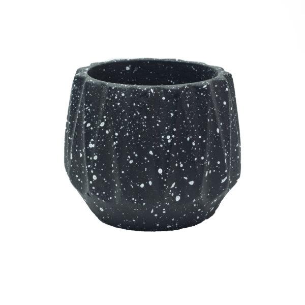Black Dholki Concrete Pot