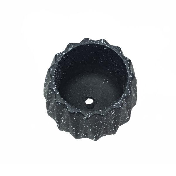 Black Dholki Cement Concrete Pot