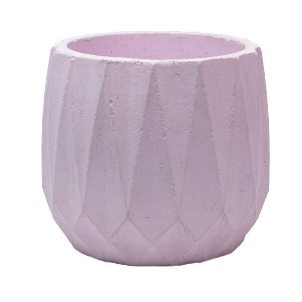 Pink Cylintrope Concrete Pot