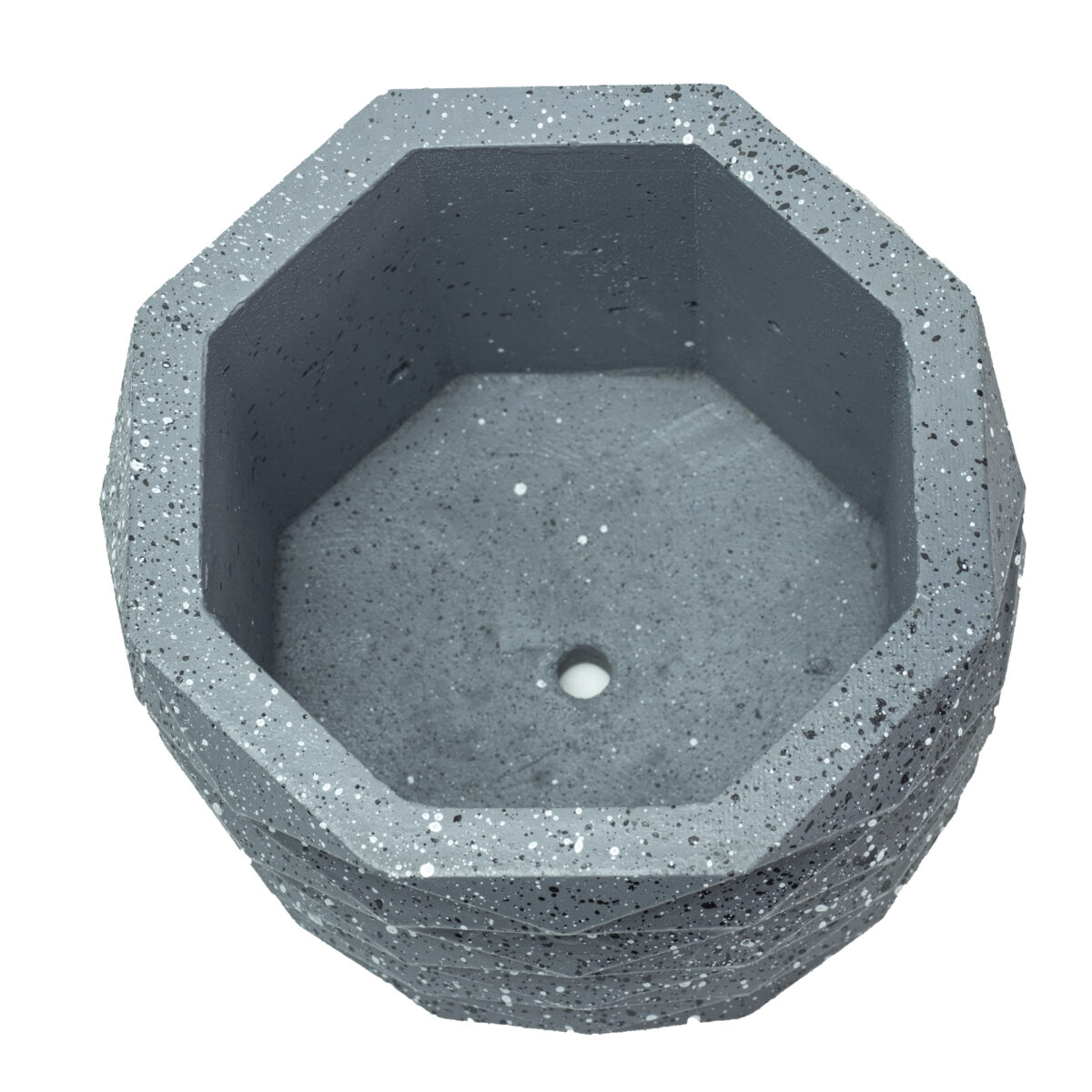 Charcoal Hexagon Cement Concrete Pot