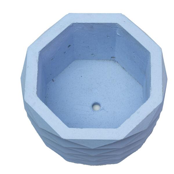 Sky Hexagon Cement Concrete Pot