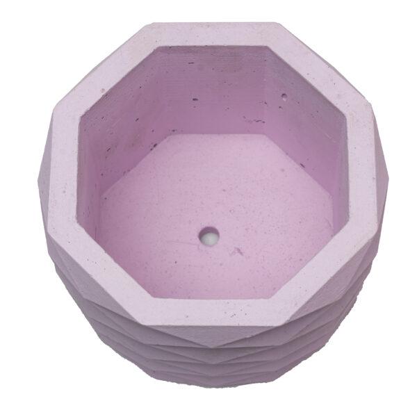 Pink Hexagon Cement Concrete Pot