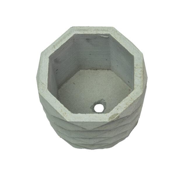 Grey Hexagon Concrete Cement Pot